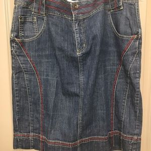 Jeans skirt women's size 20 and top